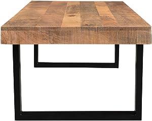 Woodkings Couchtisch Ettrick 116x57cm, Echtholz, Mango Natur, rau, rustikal, modern, Design, Massivholz, Sofatisch, Wohnmöbel, exklusiv, Lounge Coffee Table