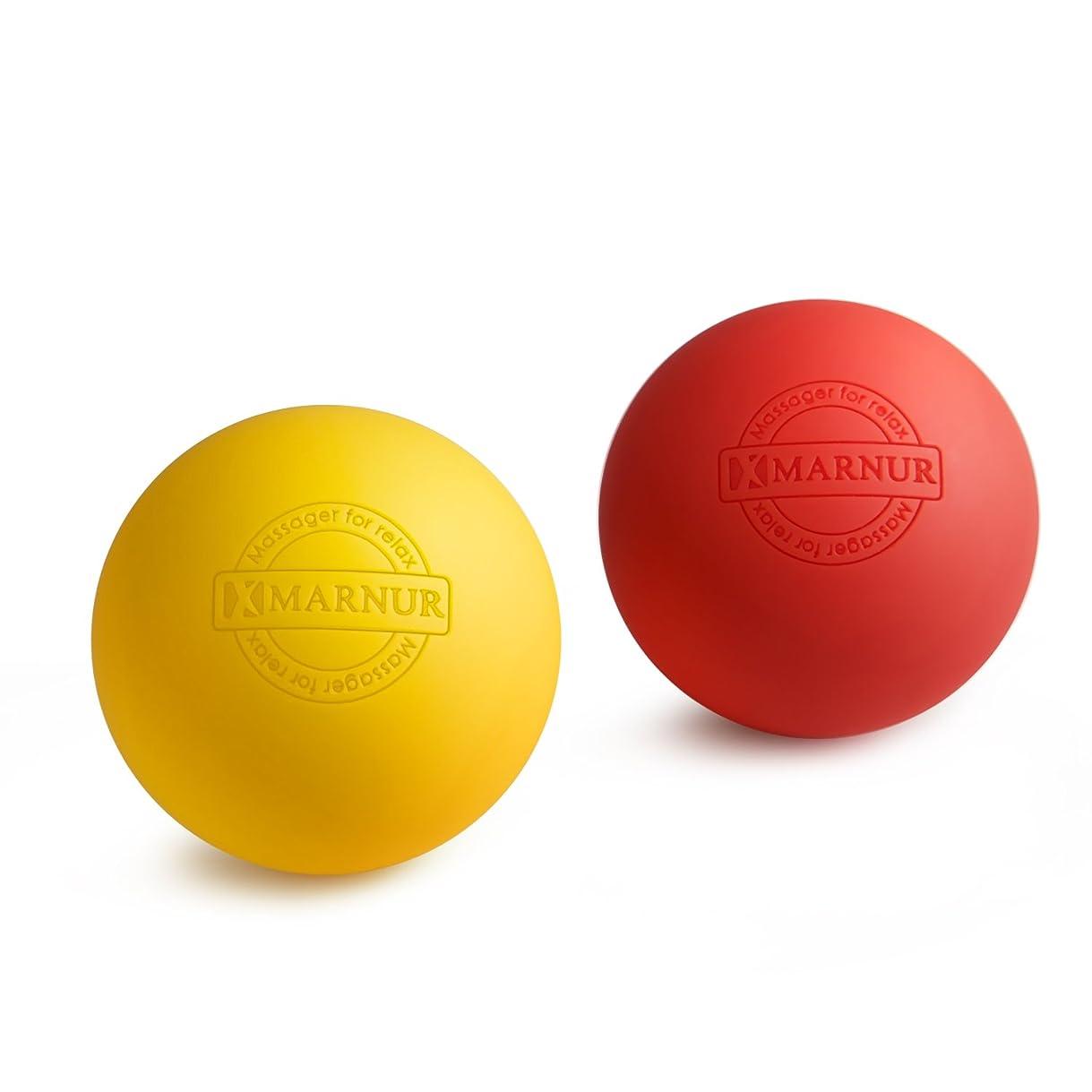シャックルダイジェスト巨大MARNUR マッサージボール ストレッチボール トリガーポイント 筋膜リリース トレーニング 背中 肩こり 腰 ふくらはぎ 足裏 ツボ押しグッズ 2で1組み合わせ