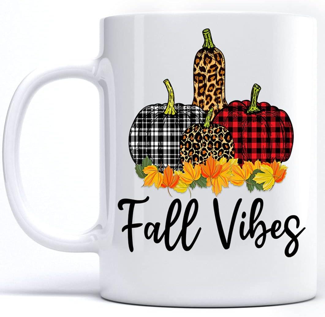 Kobalo At the price Fall Vibes Mugs Buffalo Cer Season Plaid Red Pumpkin Omaha Mall
