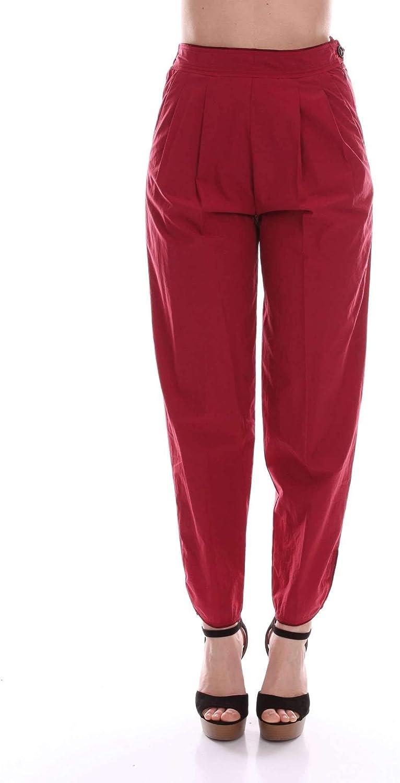 FORTE FORTE Women's 5540BORDEAUX Burgundy Silk Pants