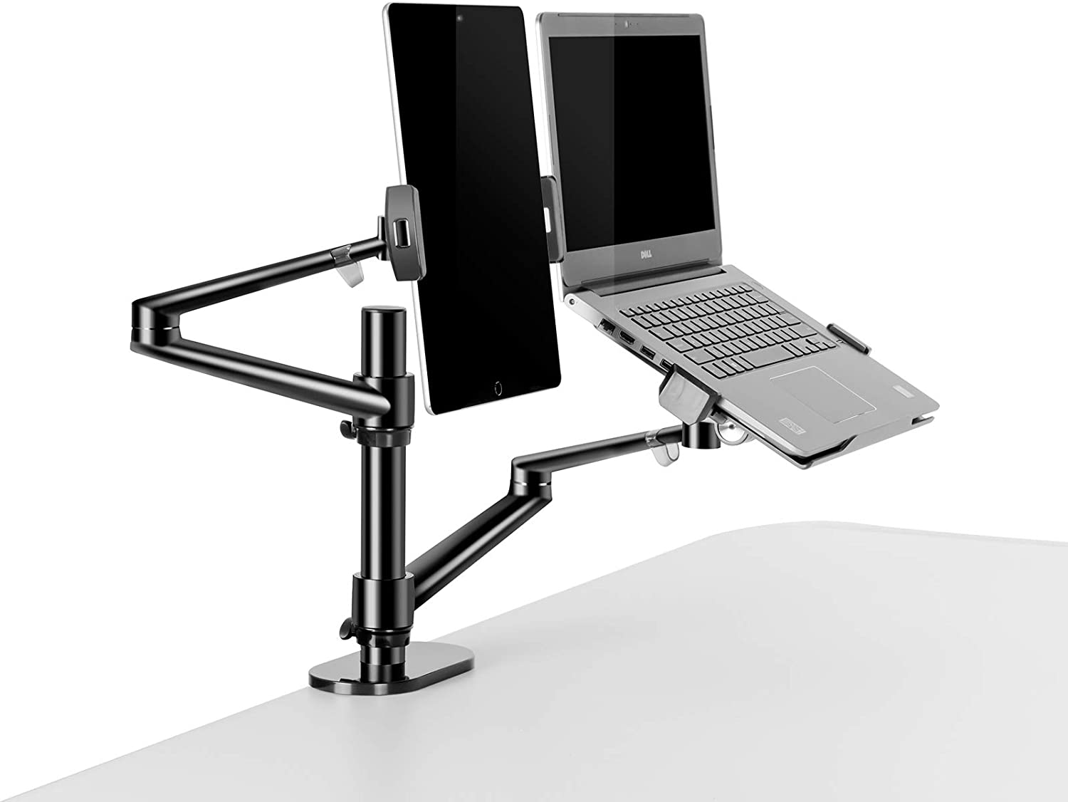 3 in 1 Stand for Laptop and Monitor or Tablet, Laptop/Monitor Desk Stand arm, 360º Rotating, Height Adjustable,Supports Laptop(11-17 inch), Monitor(17-32 inch), Tablet/iPad Pro(5-13 inch)