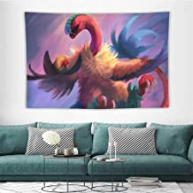 HoMdEfW Tapestries Detective Fossil Pikachu K I Print for Living Room Bedroom Dorm W93 X L70 Inch