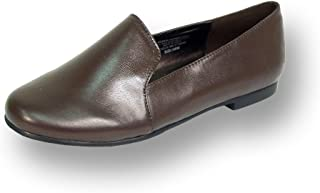 Charlie Women Wide Width Leather Flat for Everyday Life Comfort Shoes
