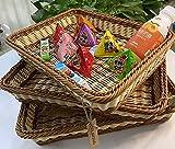SOLAPOLLO 3 paquetes de cestas de mimbre de 15.7 pulgadas, cesta tejida hecha a...
