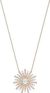 Crystal White Sunshine Rose Gold-Tone Necklace