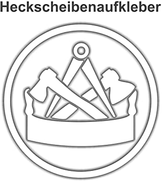 Aufkleber Zimmermann Wappen Wetterfest Auto
