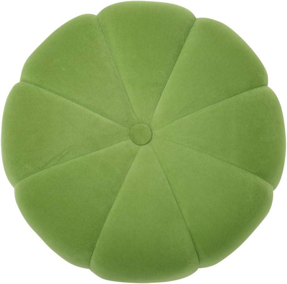 ZHTY Tabouret Rond en Velours, Salon, Chambre à Coucher, tabourets en Citrouille, Chaise pour Enfants Mignonne Light Green
