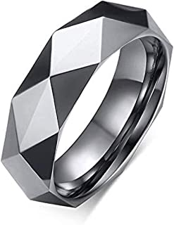 Milo Bruno - 6MM Faceted Diamond Cut Tungsten Carbide Ring (Gold)