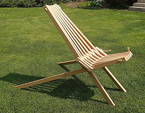 Skandinavischer Liegestuhl Stienitzstuhl Faltsessel Gartenstuhl Gartenliege Holz Sonnenliege (Ahorn, ohne Abstandshalter)
