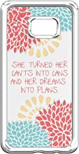Samsung Galaxy S7 Edge Case Bible Verses,Galaxy S7 Edge Hard Flexible Case,Samsung Galaxy S7 Edge Motivational Life Quotes Case She Be But Little She is Fierce Case for Samsung Galaxy S7 Edge