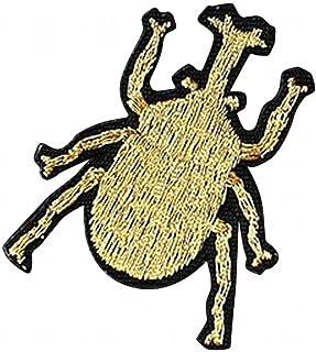 Plus Nao(プラスナオ) シールタイプワッペン アップリケ バッジ 手芸 クラフト ゴールドカラー 刺繍 昆虫 ハンドメイド DIY 手作り 帽子 バ
