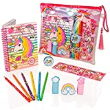 Style Girlz Deluxe Unicorn Stationery Set - Girls Coloring Pencils Cuaderno de...