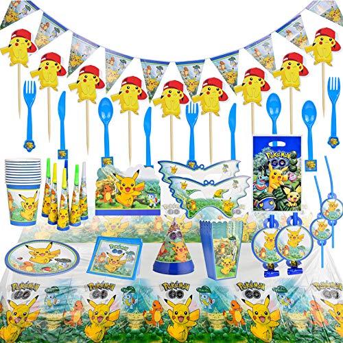 Colmanda Décoration de Fête, 155 Pièces Thème Dessin Animé Fête Kit de Fête d'anniversaire pour Enfants (A)
