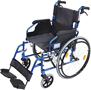 Aidapt Deluxe Self Propelled Wheelchair, Blue (VA165BLUE)