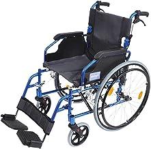 Aidapt VA165BLUE Deluxe Leichtgewichtiger Rollstuhl aus Aluminium, blau