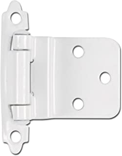 Hardware House 59-9928 3/8-Inch Inset Mount Cabinet Hinge, 2-Pack, White