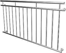 Froadp 120cm Edelstahl Treppengel/änder Edelstahl Handlauf Gel/änder-Set mit 2 Pfosten Innen Stange Handl/äufe f/ür Treppen Balkon Terrassen Br/üstung keine Querstreben