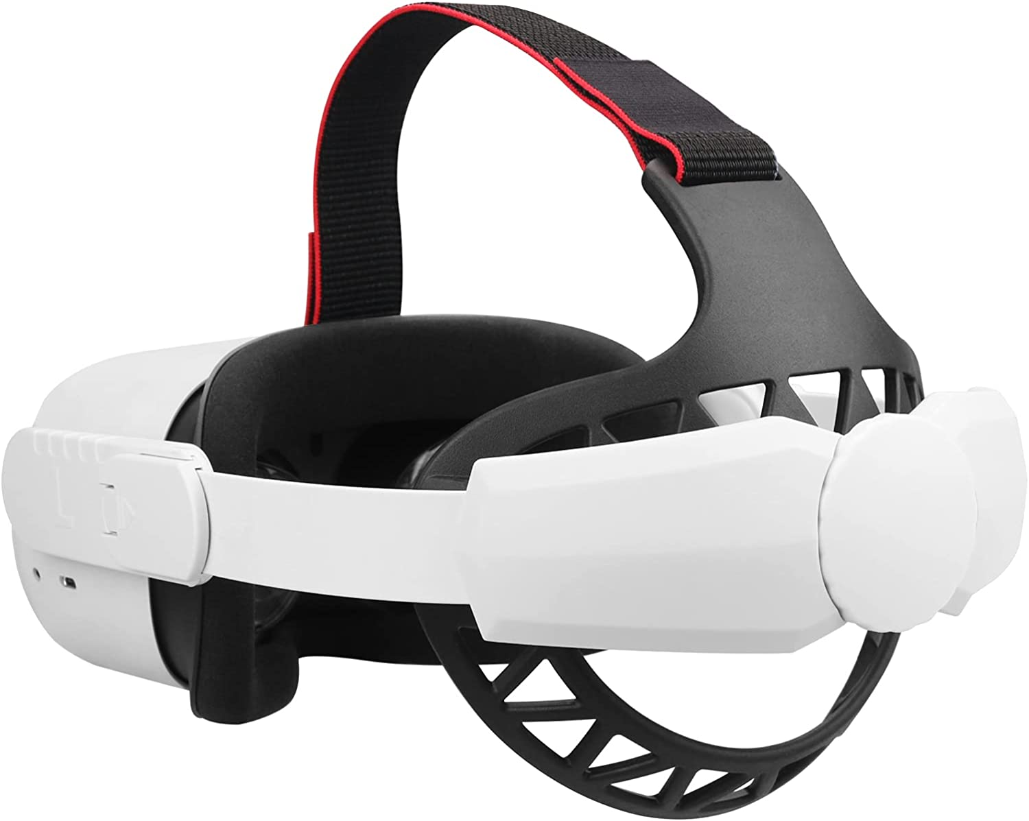 MASiKEN Soft Head Strap for Oculus Quest 2 with Head Back Pad, Portable Replacement Elite Strap, Reduce Face Pressure Comfortable Touch, Better Fit Kids Head