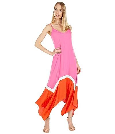 BCBGMAXAZRIA Color-Block Asymmetrical Hem Dress