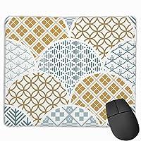 マウスパッド オフィス 最適 和柄 和風 パターン 波 上品 ゲーミング 光学式マウス対応 防水性 耐久性 滑り止め 多機能 標準サイズ25cm×30cm