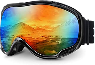 Juli Ski Goggles,Winter Snow Sports Snowboard Over Glasses Goggles with Anti-Fog UV Protection Double Lens for Men Women &...