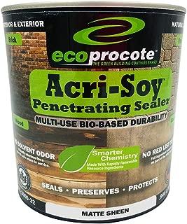 Concrete Sealer & Wood Sealer, Clear Sealant, Grout Sealer, Paver Sealer, Driveway Sealer, Wood Deck Sealer - Acri-Soy Penetrating Sealer (1 Quart)