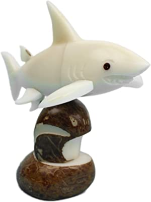 Chichester Inc. Tagua Nut Carving: Great White Shark (1153-C107A)