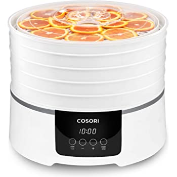 COSORI Food Dehydrator Machine (50 Recipes), Dryer for Fruit, Meat, Beef Jerky, Herbs Dog Treats, 5 BPA-Free Trays, with Timer and Temperature Control, Adjustable, ETL Listed, CO165-FD