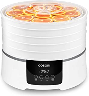 COSORI Food Dehydrator Machine (50 Recipes) Dryer for Fruit, Meat, Beef Jerky, Vegetables Dog Treats, 5 BPA-Free Trays, with Timer and Temperature Control, ETL Listed, Overheat Protection, CO165-FD