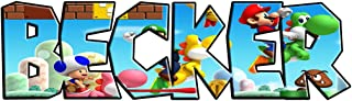 TWIN ZONE Custom Personalized Any Name Super Mario Bros Decal Wall Sticker for Kids J237, Giant