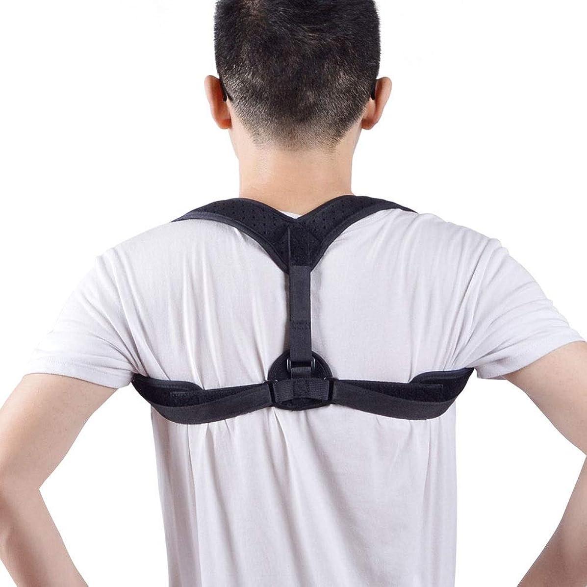誠実後世充実背もたれ矯正装置、脊椎サポート見えないKyphosis矯正ベルト調節可能なストレートウエスト腹部背中鎖骨ベルト用男性と女性用座位矯正ベルト