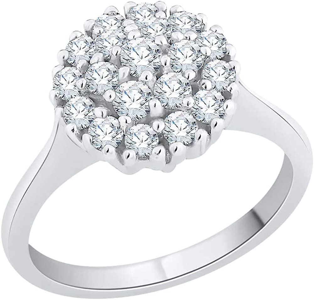 KATARINA Prong Set Diamond Cluster Gold in Ring 14K Engagement Miami Mall New item