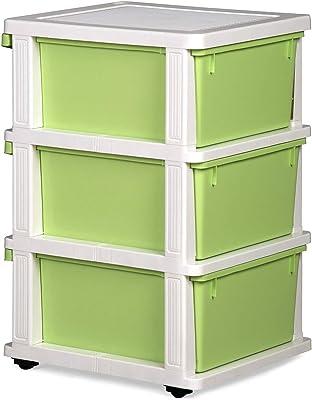 Nemi Agency NILKAMAL Chester 23 Series Plastic 3 Drawer Cabinet (Multicolour)