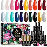 MEFA 23 Pcs Gel Nail Polish Set with Nice Box, Soak Off Nail Gel Polish Kit with Glossy & Matte Top and Base Coat, Black White Gold Classical Collection with All Colors for Starter or Beginner Manicure Nail Art Salon - Best Reviews Guide