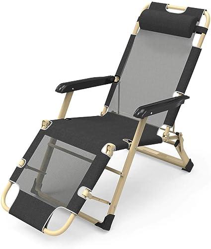 MAOYOU Chaises Pliantes - Chaise Longue, Chaise de Pause-déjeuner pour Femme Enceinte de Bureau, Chaise de Plage, Chaise Portable Semi-allongée