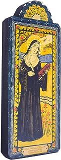 Modern Artisans Saint Hildegard Von Bingen Inspirational Handmade Retablo Plaque, 3.5 x 8.5 Inches