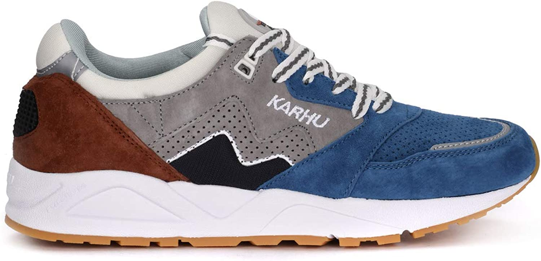 Karhu Aria Ocra Ocra Ocra blåtte och grå mocka och Nylon skor, Storlek Storbritannien   Toppvarumärken säljer billigt