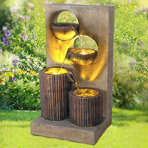 Gartenbrunnen Brunnen Zierbrunnen Zimmerbrunnen Springbrunnen Brunnen Aqua-Melody - 230V Wasserfall Wasserspiel für Garten, Gartenteich
