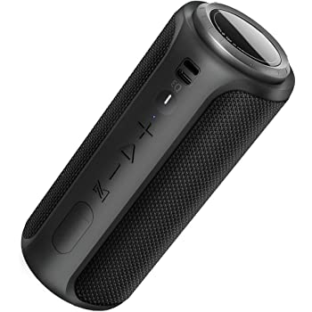 Play Music with Wireless Connection 360-Degree Sound Rechargeable Battery with up to 15 Hours Play Time SHARPER IMAGE Portable Waterproof Bluetooth Speaker Impressive Sound Quality