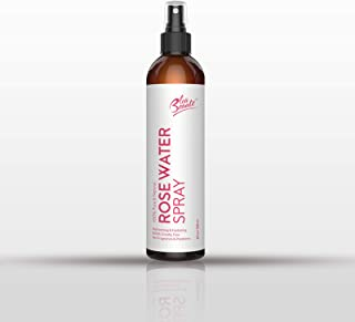 8 OZ ROSE WATER by Bleu Beauté - 100% Pure Facial Toner with a Tender Floral Scent - SPRAYER (1 Bottle in a sprayer)