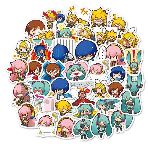 ALTcompluser 40 Stk Vocaloid Stickers Hatsune Miku Wasserdicht Aufkleber für Laptop, Macbook, Gepäck, Skateboard