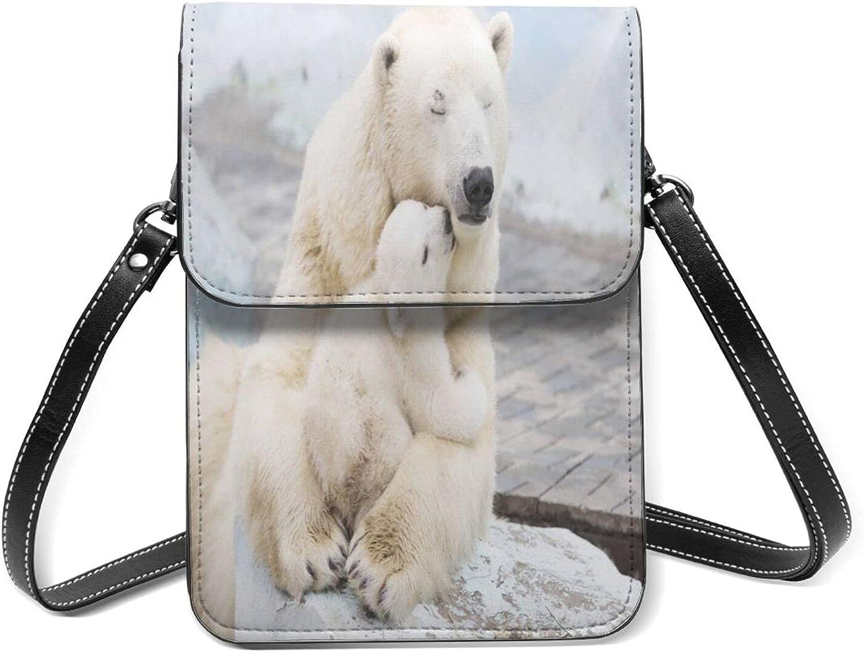 Polar Regular dealer Bear Small Cell Phone Purse 2021 autumn and winter new Lightweight Flip Shoulder With