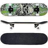 FunTomia Skateboard mit ABEC-9 Kugellager Rollenhärte 100A und...