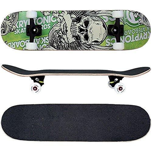 FunTomia Skateboard mit Mach1 Kugellager Rollenhärte 100A und 100% 7-lagigem Ahornholz Skate Board mit Kicktail