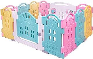 Bingo Fence-Shaped Building Blocks, 12 Pieces - Multi Color