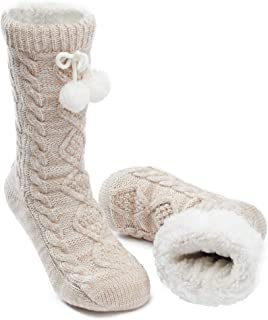 MaaMgic Womens Fuzzy Slipper Socks Girls Cozy Funny Grip Socks