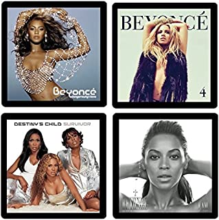 Beyonce Collectible Coaster Gift Set #1 ~ (4) Different Album Covers Reproduced on Soft Pliable Coasters