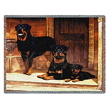 Pure Country 1146-T Rottweiler Pet Blanket, Various Blended Colorways, 53 by 70-Inch
