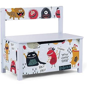 Baby Vivo Baúl para Juguetes Caja de Juguetes Infantil Banco de Almacenamiento Niños Almacenaje con Tapa de Cierre Seguro: Amazon.es: Juguetes y juegos