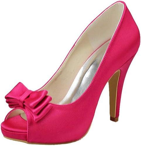 ZHRUI Sandales de soirée de Mariage pour Femmes Femmes (Couleuré   Peach-10cm Heel, Taille   7.5 UK)  le dernier